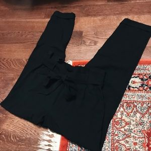 Paper bag waist trousers ZARA